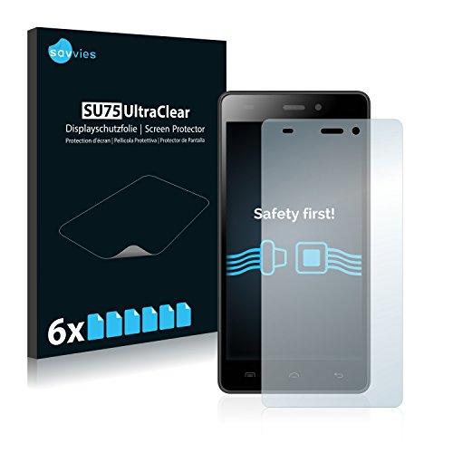Savvies 6X Schutzfolie kompatibel mit Doogee Galicia X5 Pro Bildschirmschutz-Folie Ultra-transparent