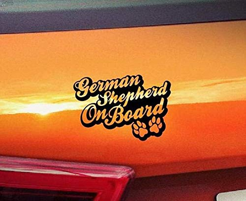 De Cherry Blossom Muursticker Duitse herder aan boord voor auto Sticker