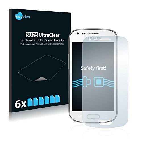 savvies Protector Pantalla Compatible con Samsung Galaxy Trend Plus S7580 (6 Unidades) Pelicula Ultra Transparente