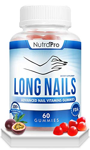 Nail Growth Vitamins for Stronger Nail - No More Chipped Nails.Nail Strengthener And Growth Supplement Gummies – Grow Strong Nails.Nail Health With Collagen And Biotin.