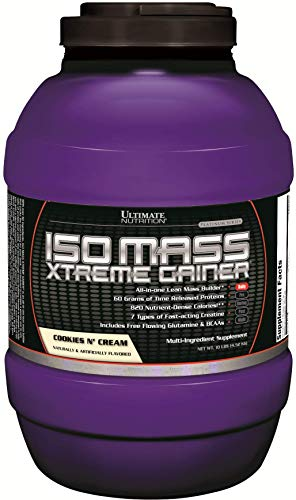 Ultimate Nutrition ISO Mass Xtreme Weight Gainer Protein Isolate Powder...