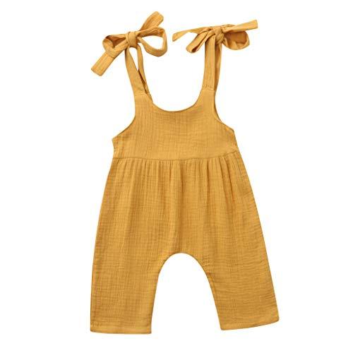 Julhold Zomer Pasgeboren Baby Jongens Meisjes Casual Leuke Solid Overalls Vest Katoen Losse Romper Jumpsuit Kleding 3-24 Maanden