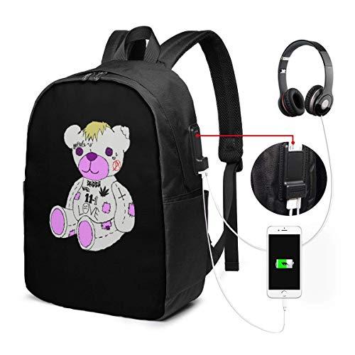 Tragen Sie USB-Rucksack Handgepäck Taschen 17 Zoll Laptop-Rucksack für Travel School Busin