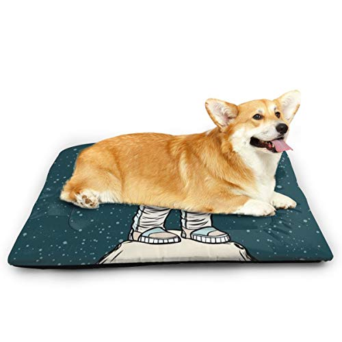 Nicht anwendbare Weltraum Astronaut Saxophon Haustier Katze und Hund Unterlage wasserdicht Haustier Matratze saugfähig Handtuch Teppich