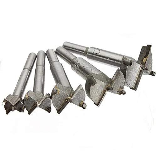 Haoshengo 5Pcs 15-35mm Professional Woodworking Drill Bits Set