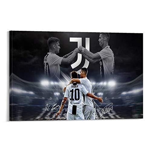 ASDH Póster de Cristiano Ronaldo y Paulo Dybala, cuadro decorativo, lienzo para pared, salón, dormitorio, 30 x 45 cm