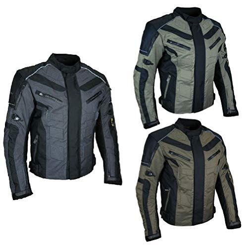 HEYBERRY Kurze Textil Motorrad Jacke Motorradjacke Antique Grau Gr. M