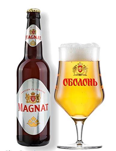 8 Flaschen Obolon Magnat, Lager Bier Originalimport aus der Ukraine 0,5l 5,2% Alc