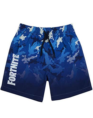 Fortnite Shorts de baño niños | Bañador Gamer Azul Claro u Oscuro (7-8 Anni)