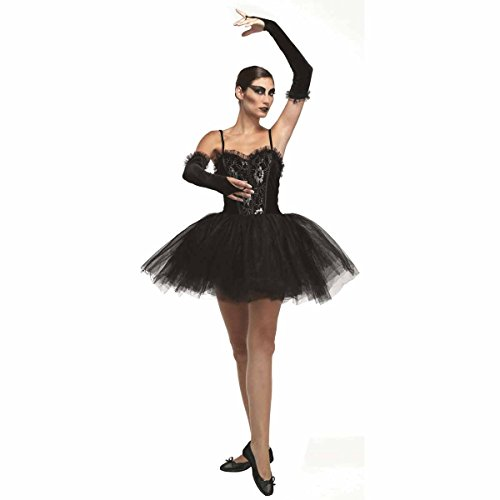 adult ladies gothic black swan gothic ballerina costume (Women: 12-14) (disfraz)