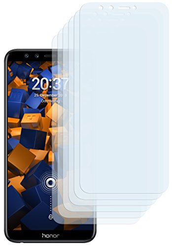 mumbi Schutzfolie kompatibel mit Huawei Honor 9 Lite Folie klar, Bildschirmschutzfolie (6X)