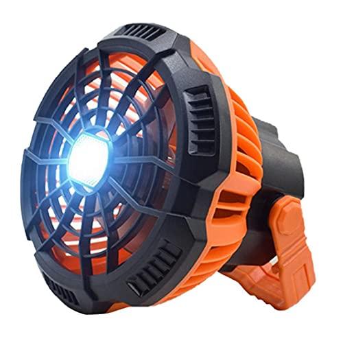 Yililay Linterna Carpa de luz de Camping Ventilador con luz LED Gancho Colgante Portable con Control Remoto para Orange Cubierta al Aire Libre