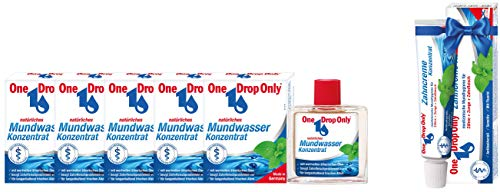 One Drop Only Mundwasser Konzentrat 5x50 ml + GRATIS Zahncreme Konzentrat
