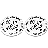 Funny Decision Coin for New Mom Parent Gifts Double Sided New Parent Decision Coin New Baby Presents for Her Him Pregnancy Mommy Daddy to Be Mother's Day Father's Day New Parent Collectible Coin