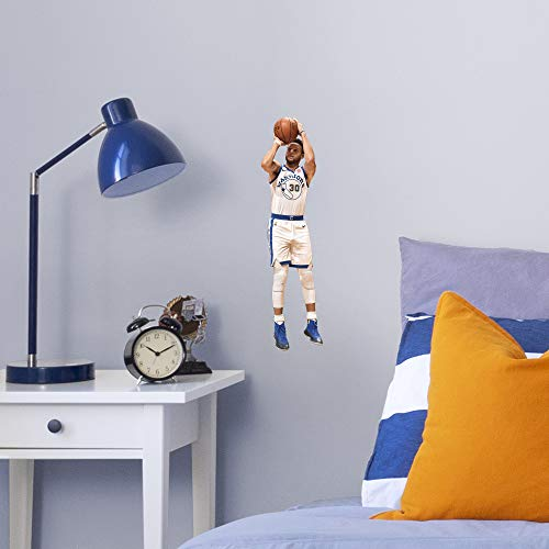 Fathead NBA Golden State Warriors Steph Curry Steph Shooting- Officially Licensed Removable Wall Decal, Multicolor, Large - 1900-00303-005