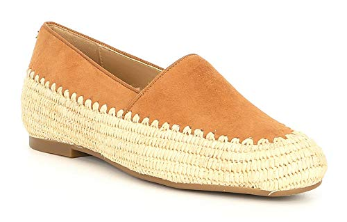 Michael Kors Bahia Chaussures plates à enfiler en daim et jute pour femme, Marron (Gland), 40 EU