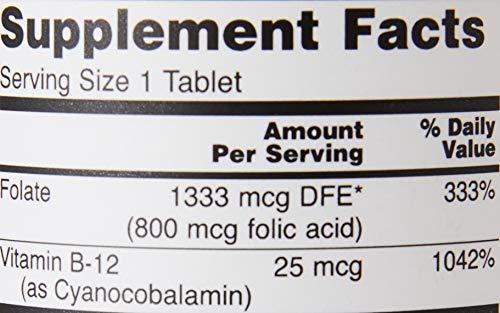NOWFoods葉酸+ビタミンB12250錠剤
