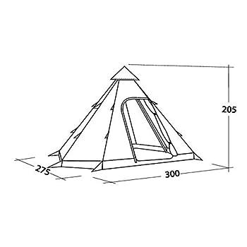 Easy Camp Bolide 400 Tente Mixte, Bordeaux, 300 x 275 cm