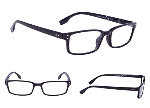 3-Pack Classical Reading Glasses with Spring-Hinges