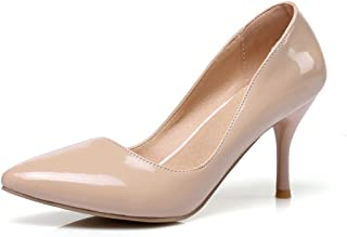 BFDMY Femmes Mode Talon Haut Aiguille Bout Pointu Escarpins À Talons Hauts Sexy Slip on Stiletto Party Chaussures