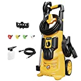 WestForce 2950 PSI Electric Pressure Washer, 1.76 GPM Electric Power Washer, 1700 W High Power Washer with 5 Nozzles, Hose Reel, Detergent Tank for Homes, Cars, Driveways, Patios