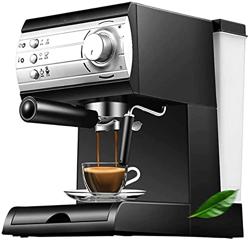 Presión de la Bomba Maquina de cafe, Capuchino Depósito 1.5 l Brazo vaporizador doble ajustable 20 bares Acabados en acero inoxidable