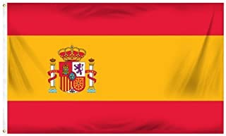 Online Stores Spain Printed Polyester Flag, 3 by 5-Feet by Online Stores Inc.