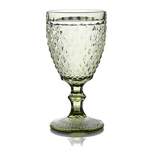 QJTZ Copa de Vino Vino Copa de Vino Retro Vintage Relieve Tinto Vino Taza Grabado Grabado Jugo Jugo Beber Gafas Champagne Cubiletas Surtidas 0415 (Size : 300ml)