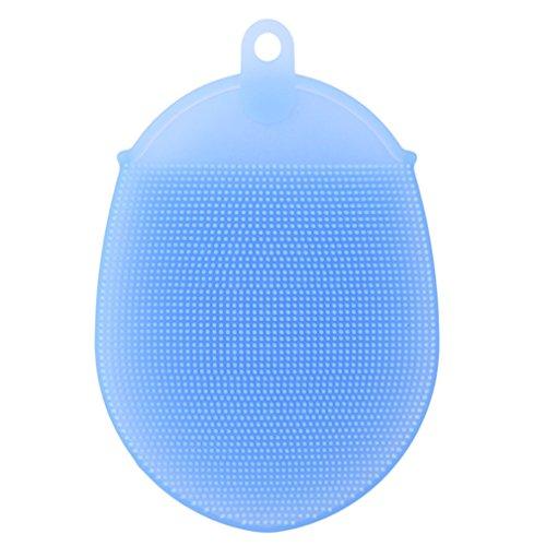 Yinew Coque en silicone Corps Brosse de massage pour le corps Outil de bain/douche, Texture douce antibactérien Mildew-free, exfoliant Skin Spa Massag