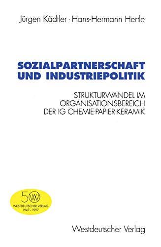 Sozialpartnerschaft und Industriepolitik: Strukturwandel im Organisationsbereich der IG Chemie-Papier-Keramik (Schriften des Zentralinstituts für sozialwiss. Forschung der FU Berlin (78), Band 78)