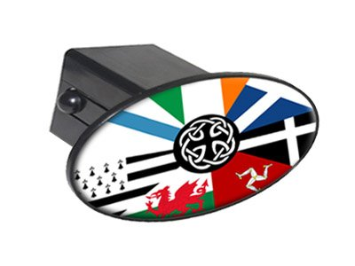 Graphics and More Celt Irish Ireland Pan-Celtic Flags Oval Tow Trailer Hitch Cover Plug Insert 2'