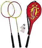 Schildkröt Badminton-Set für 2 Spieler, Federball, Rot