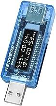 Mini draagbaar 0,91 inch LCD-scherm USB-lader capaciteit power stroom spanningsmeter tester multimeter - lichtblauw