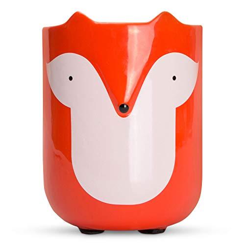 el & groove Fuchs Tasse mit Ohren und Fuchsschwanz in 3D, Kaffee-Tasse 350 ml, Tee-Tasse Fuchs aus Porzellan in orange weiß, Fuchs Fox Deko Becher, Geschenk für Frauen, Geschenk Weihnacht