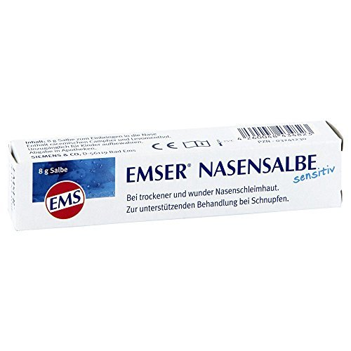 Emser Nasensalbe sensitiv mit Emser Salz - Bei trockener und wunder Nase - 8 g