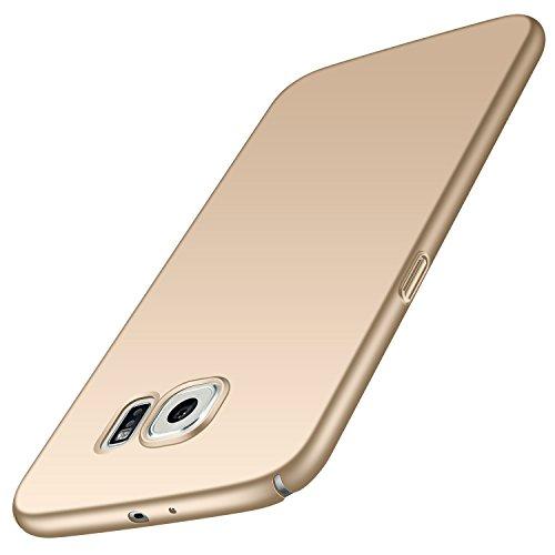 Anccer Cover per Samsung Galaxy S6, [Alta Qualità] [Ultra Thin] Anti-Scratch Hard PC Case Custodia Compatibile con Galaxy S6 (Non adatto per Galaxy S6 Edge)-Oro liscio