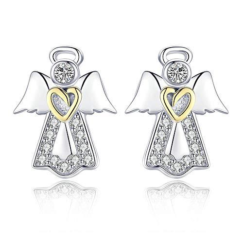 Hot Sale Echte 925 Sterling Zilver Guardian Angel Exquisite Stud Oorbellen voor Vrouwen Mode Zilver sieraden Gift