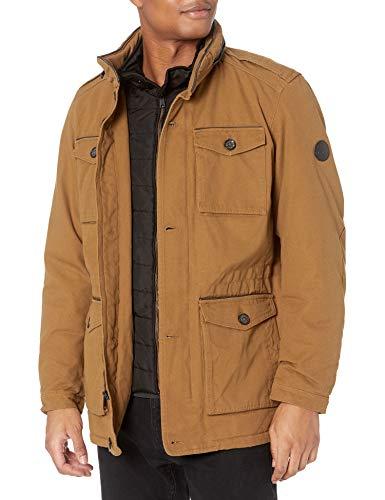 Ben Sherman Herren Parka Jacket Daunenalternative, Mantel, Baumwolle Timberland, X-Groß