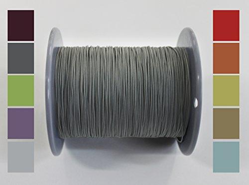 Home-Vision 10 Meter Plisseeschnur 0.8mm Grau | Schnur Spannschnur für Plissees Rollos Jalousien | 15 Farben!!