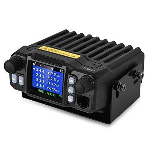 Vbestlife Walkie Talkie para automóvil, 200 Canales 5–50 km de Distancia Transceptor CB móvil Sistema de comunicación de Radio de automóvil con Pantalla de visualización