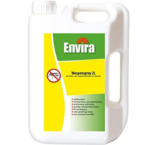 Envira Wespen-Spray - Anti-Wespen-Mittel Mit Langzeitwirkung - Geruchlos & Auf Wasserbasis - 2 Liter