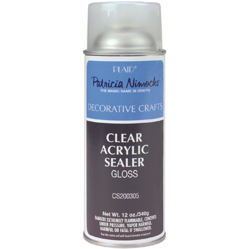 Plaid Patricia Nimocks Clear Acrylic Sealer (12-Ounce),...