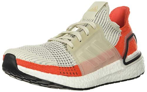 adidas Men's Ultraboost 19 Raw White/Cloud White/Active Orange F35245
