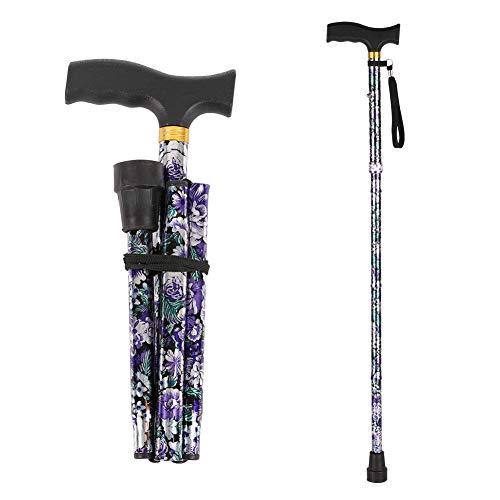 Folding Walking Cane,LIXIANG,5-Level Height Adjustable Walking Stick For Men &...