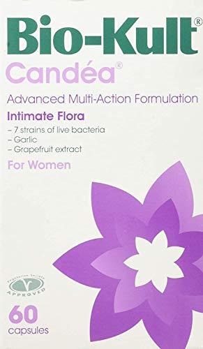 Bio-Kult Candéa - Suplemento Probiótico formula avanzada multiacción para la flora íntima de la mujer, 7 cepas, con extracto de pomelo y ajo, 60 cápsulas