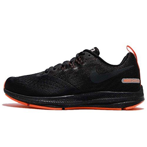 Nike Women's Air Zoom Winflo 4 Shield Running Shoe Black/Anthracite-Anthracite (7 B US)