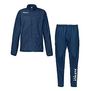 ATHLETA(アスレタ)メンズ サッカーウェア 中綿ウォームジャケット パンツ 上下セット フットサル 防寒 04121/04122 90NVY M