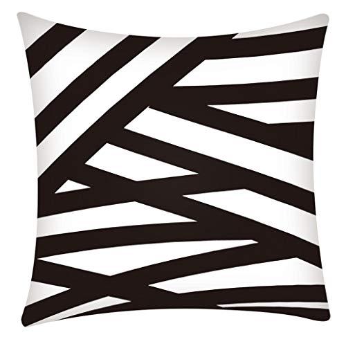 Dekorativ Kissenbezug Geometrische Muster 45 x 45cm Sofa Büro Dekor Kissenhülle Zierkissenbezüge Bettkissenbezug aus Baumwoll und Leinen Pillowcase By Vovotrade