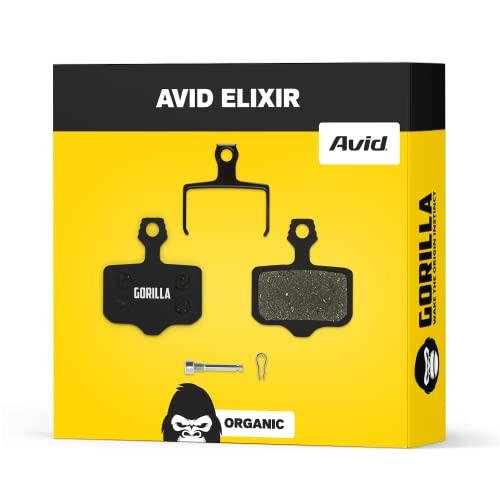 Avid Elixir Bremsbeläge 1 3 5 7 9 R Carbon X7 CR 10 XO VIA GT & SRAM XX XO für Fahrrad Scheibenbremse I Organisch I Hohe Bremsleistung I Langlebiger & Passgenauer Bremsbelag