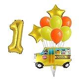 Djujiabh Globos 10pcs del Coche Hoja hincha Ingeniería de Tren de Fuego Fiesta de cumpleaños Globos Globos Decoración Camión niños (Color : Set 2, Shape : Number 7)